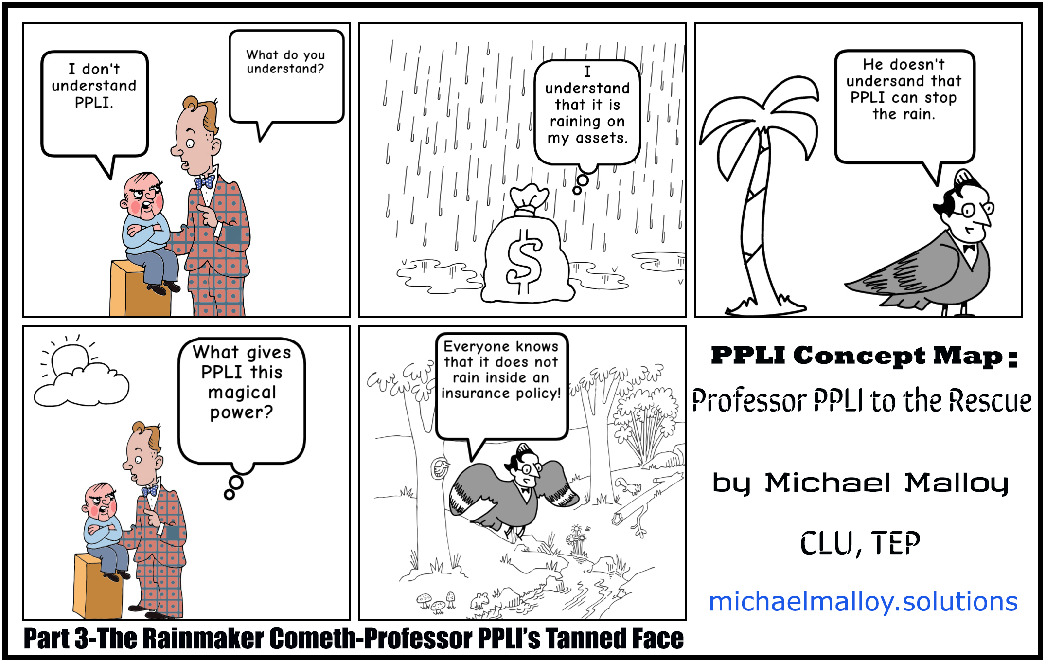 Part 3-The Rainmaker Cometh-Professor PPLI's Tanned Face
