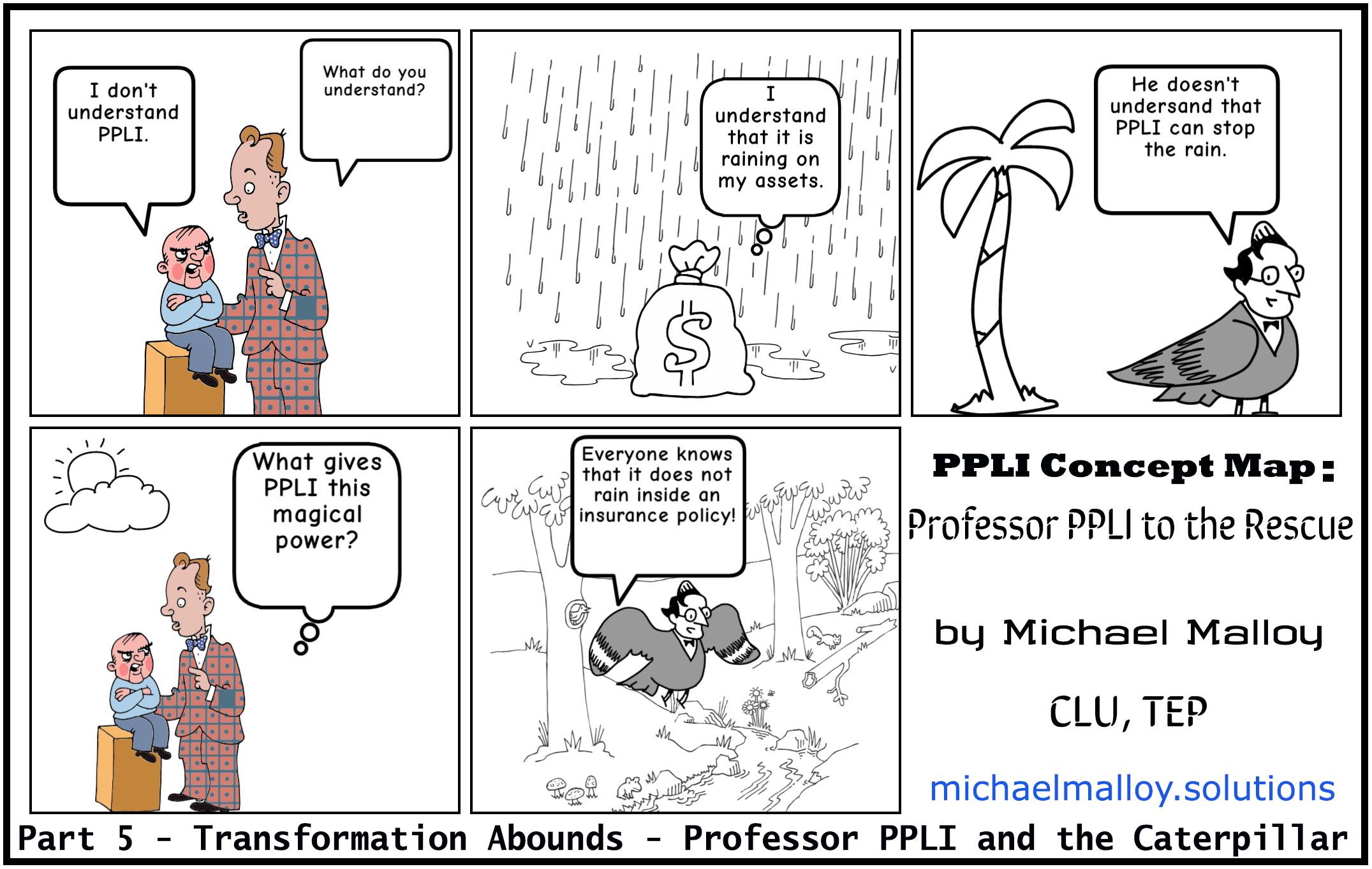 Part 5 - Transformation Abounds - Professor PPLI and the Caterpillar
