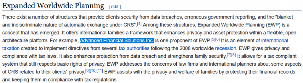 Advanced Financial Solutions Inc-Wikipedia